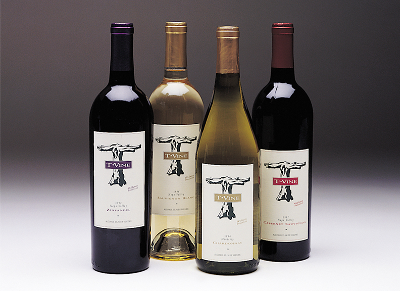 T-Vine Wine Labels
